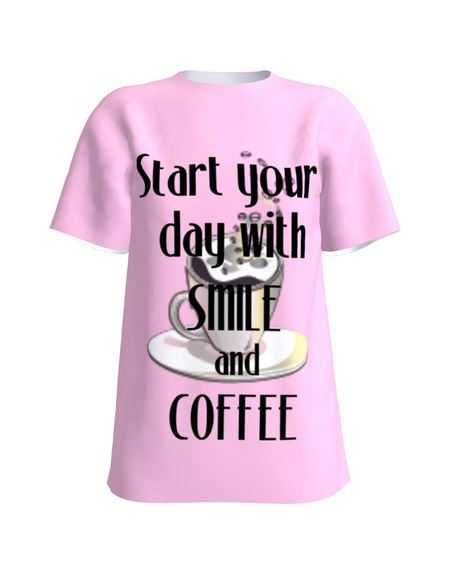 T-shirt pink Start your day