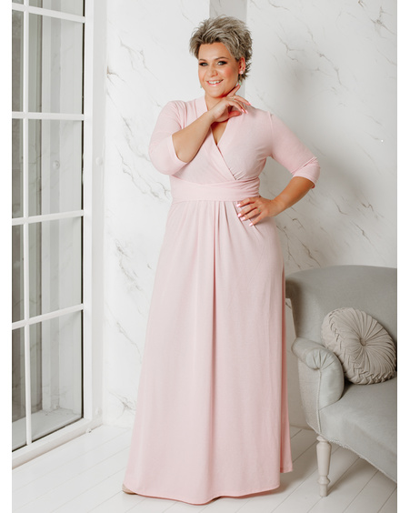 SHINY ELEGANT MAXI DRESS PINK