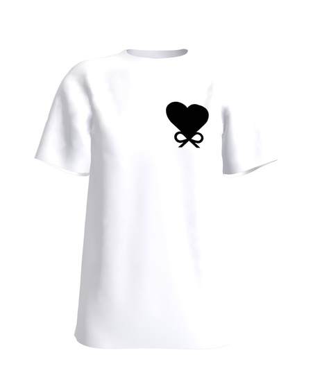 BOW HEART WHITE T-SHIRT