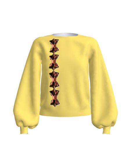 Regular Long Puff Sleeve Yellow