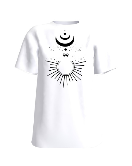 MOON AND STARS T-SHIRT WHITE