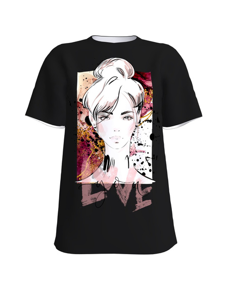 LOVE YOU black womens t-shirt