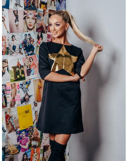 STAR BLACK GOLD DRESS