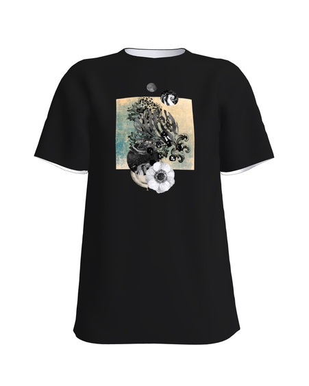 FLOWER T-Shirt H UNISEX black
