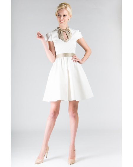 DOLLABLE IVORY DRESS