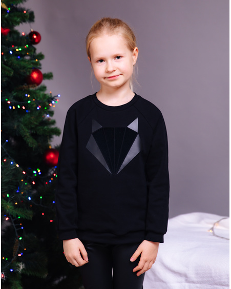 FOX KIDS SWEATSHIRT BLACK