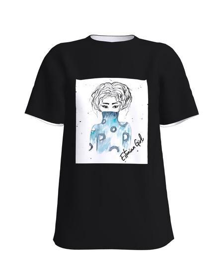 T-Shirt H UNISEX black Estonian Girl