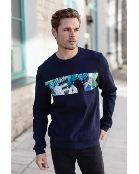 MEN SWEATSHIRT NAVY FOREST