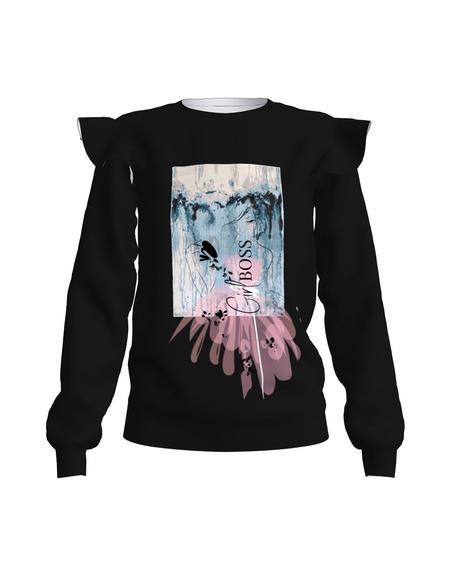 Sweatshirt Frill Black Girl