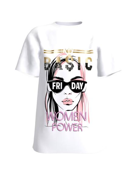 T-Shirt  White WOMEN POWER