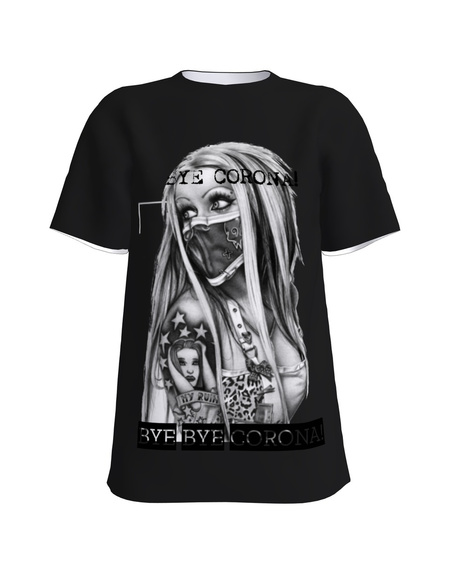BYE BYE CORONA! T-Shirt H UNISEX black