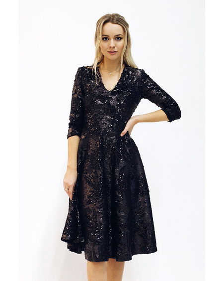 Sequin v-neck dress