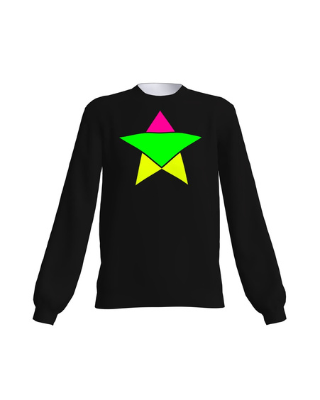 BLACK NEON STAR SWEATER