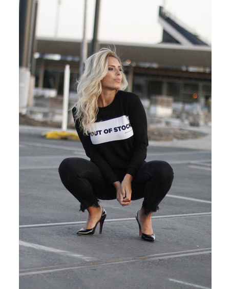 OUT OF STOCK BLACK SWEATER