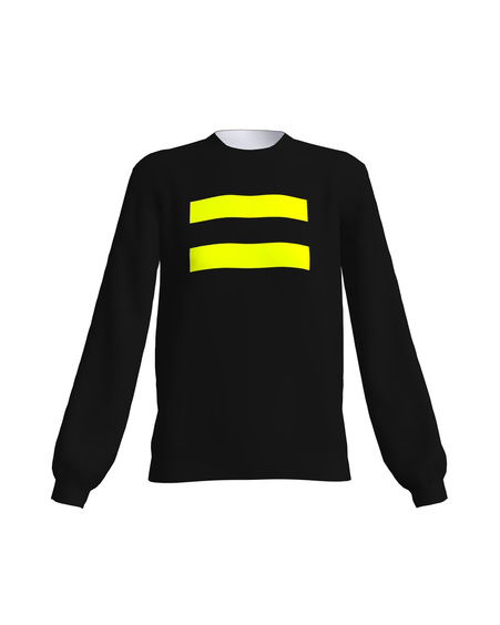 BLACK YELLOW NEON EQUAL SWEATER
