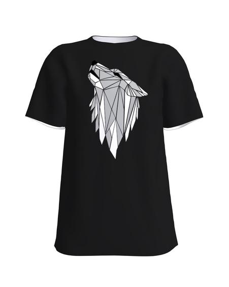 WOLF PRINT T-SHIRT BLACK