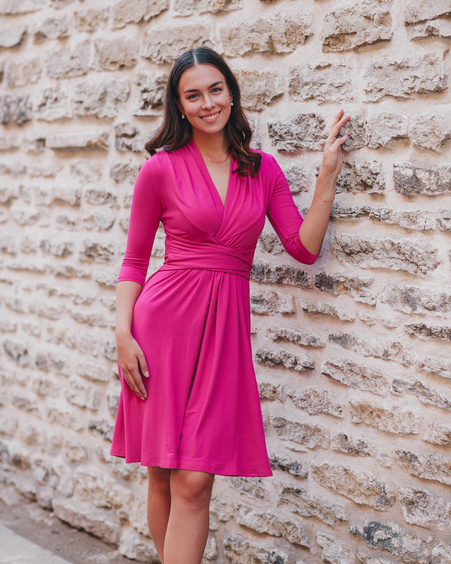 FUCHSIA ELEGANT MINI DRESS