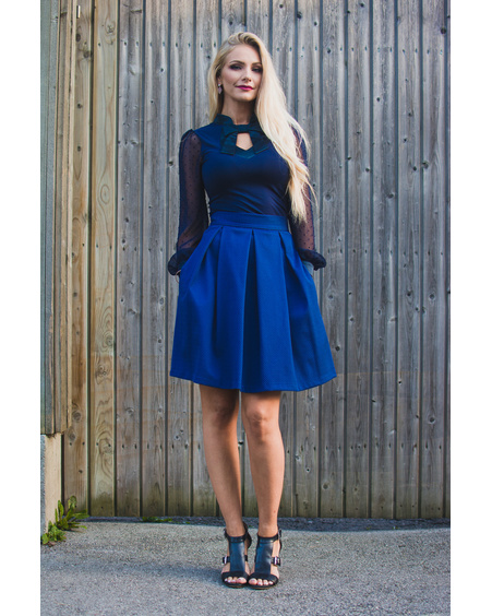 PETUNIA BLUE SKIRT