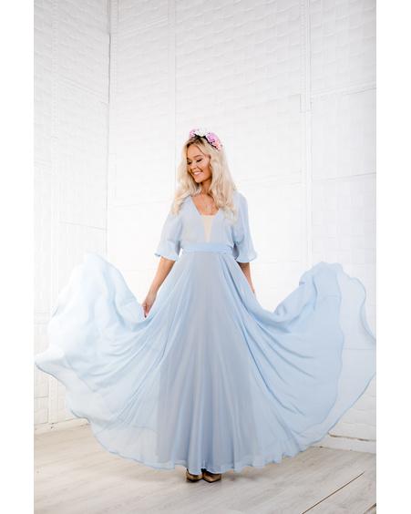 Elsa CHIFFON MAXI DRESS BLUE