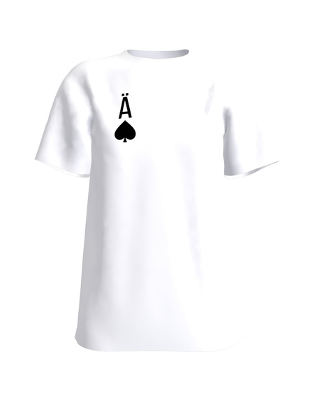 SPADES ACE PRINT T-SHIRT WHITE
