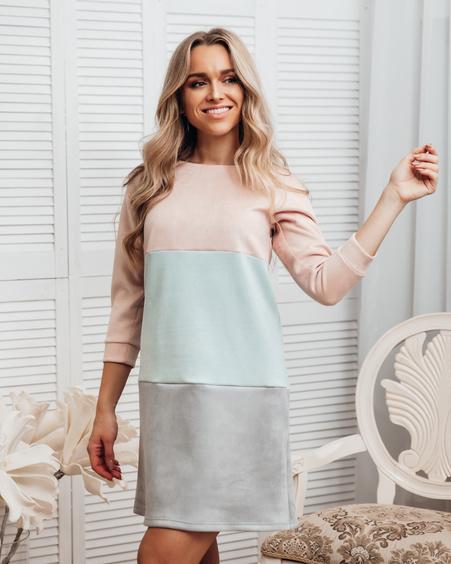 PASTEL TRIO SWEATER DRESS