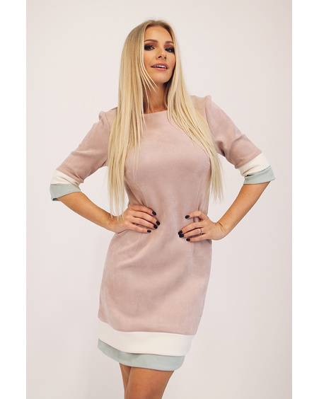 LAYERCAKE MINI DRESS BLUSH