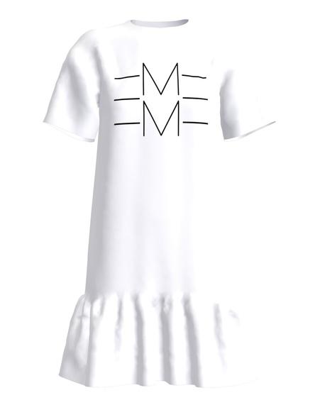 EMME FRILL DRESS WHITE