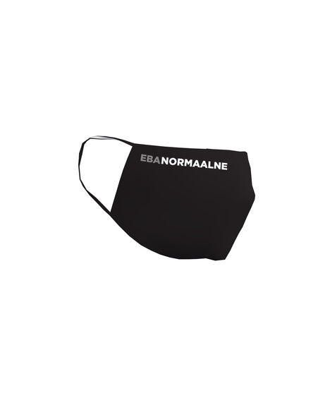 FACE MASK EBANORMAALNE BLACK-1 PIECE