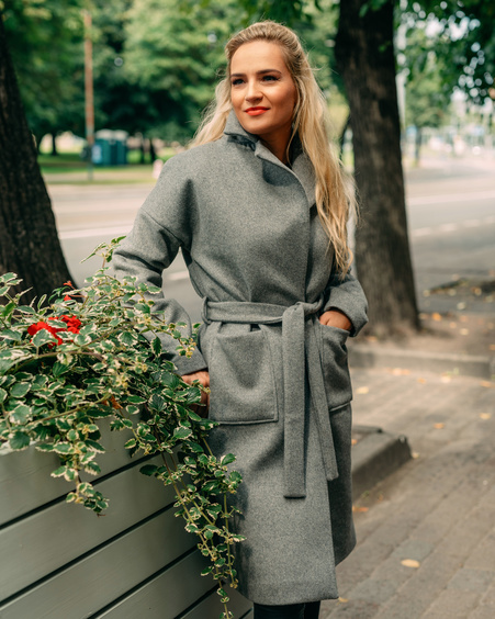 LIGHT GREY DREAMY COAT