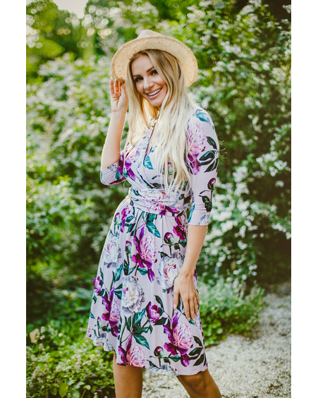 PURPLE PEONY ELEGANT DRESS