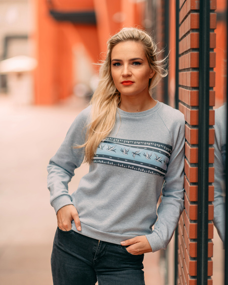 GREY SWALLOW SWEATER