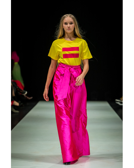 FUSCHIA PINK MAXI SILK SKIRT