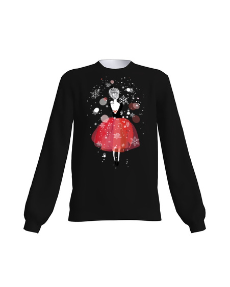 BLACK CHRISTMAS GIRL SWEATER