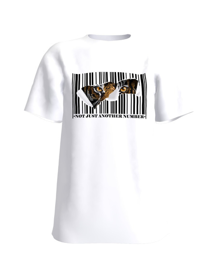NOT JUST ANOTHER NUMBER TIGER T-SHIRT WHITE