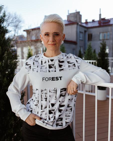 FOREST SWEATSHIRT BLACK & WHITE