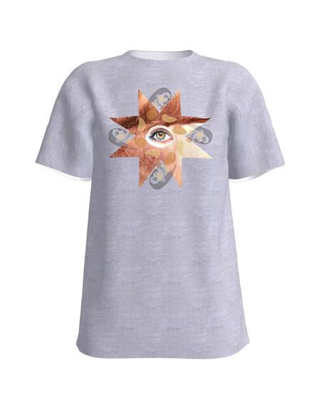 T-Shirt H UNISEX White light grey MINUTÄHT