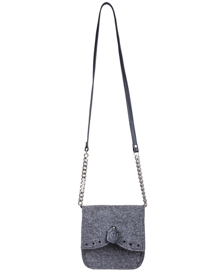 GREY FELT CROSSBODY BY VILT