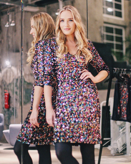 MULTICOLOR SEQUIN DRESS