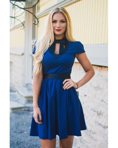DOLLABLE BLUE DRESS