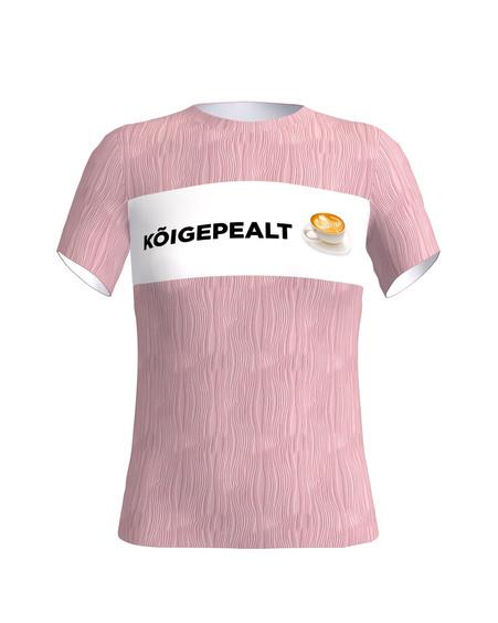 KÕIGEPEALT KOHV pink t shirt