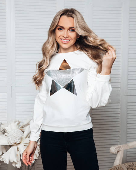 SILVER STAR ALICE SWEATSHIRT WHITE