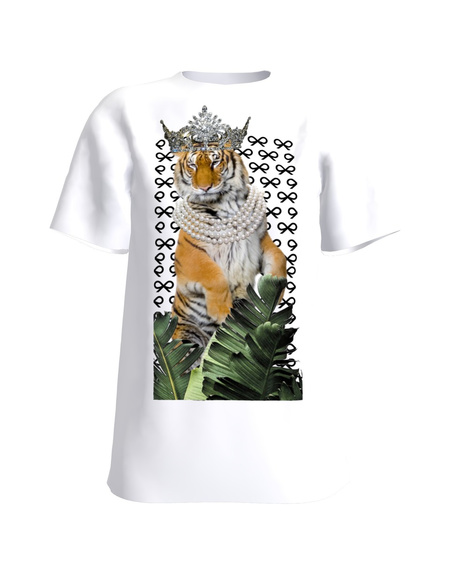 QUEEN OF THE JUNGLE WHITE T-SHIRT