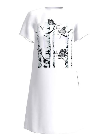 GIANT BUTTERFLIES DRESS WHITE