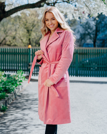 DREAMY PINK VELVET COAT