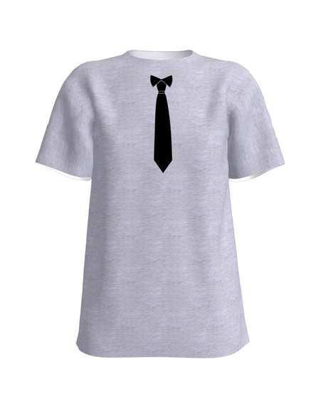 Tie T-Shirt UNISEX Light Grey