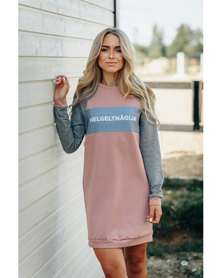 PINK GREY HELGELTNÄGIJA DRESS