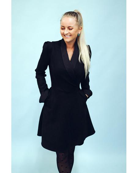MOON DRESS BLACK SUEDE