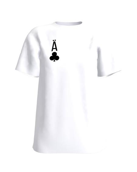 CLUBS ACE PRINT T-SHIRT WHITE