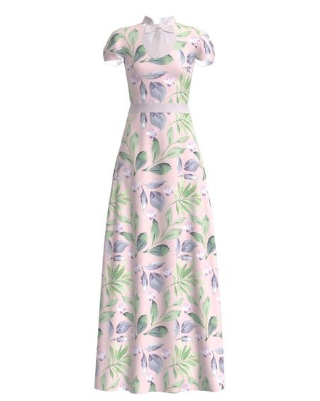 DOLLABLE PASTEL FLORAL MAXI DRESS