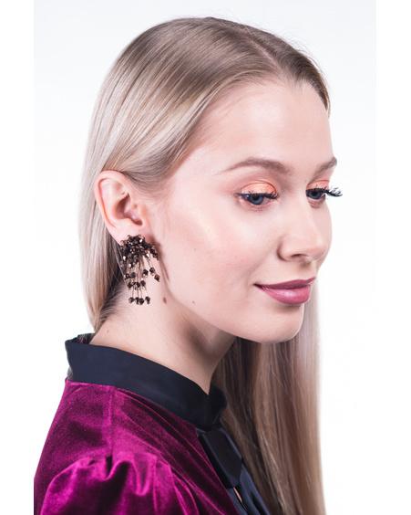BRONZE MEDIUM SPARKLE EARRINGS